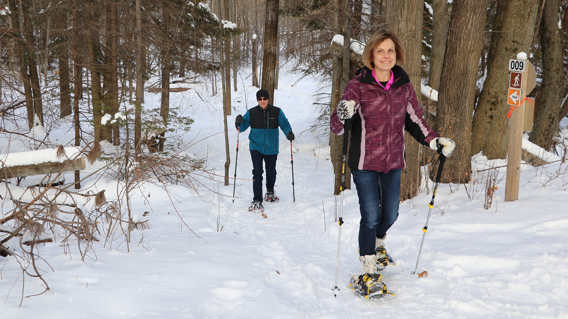 Snowshoeing at Brown County Reforestation Camp