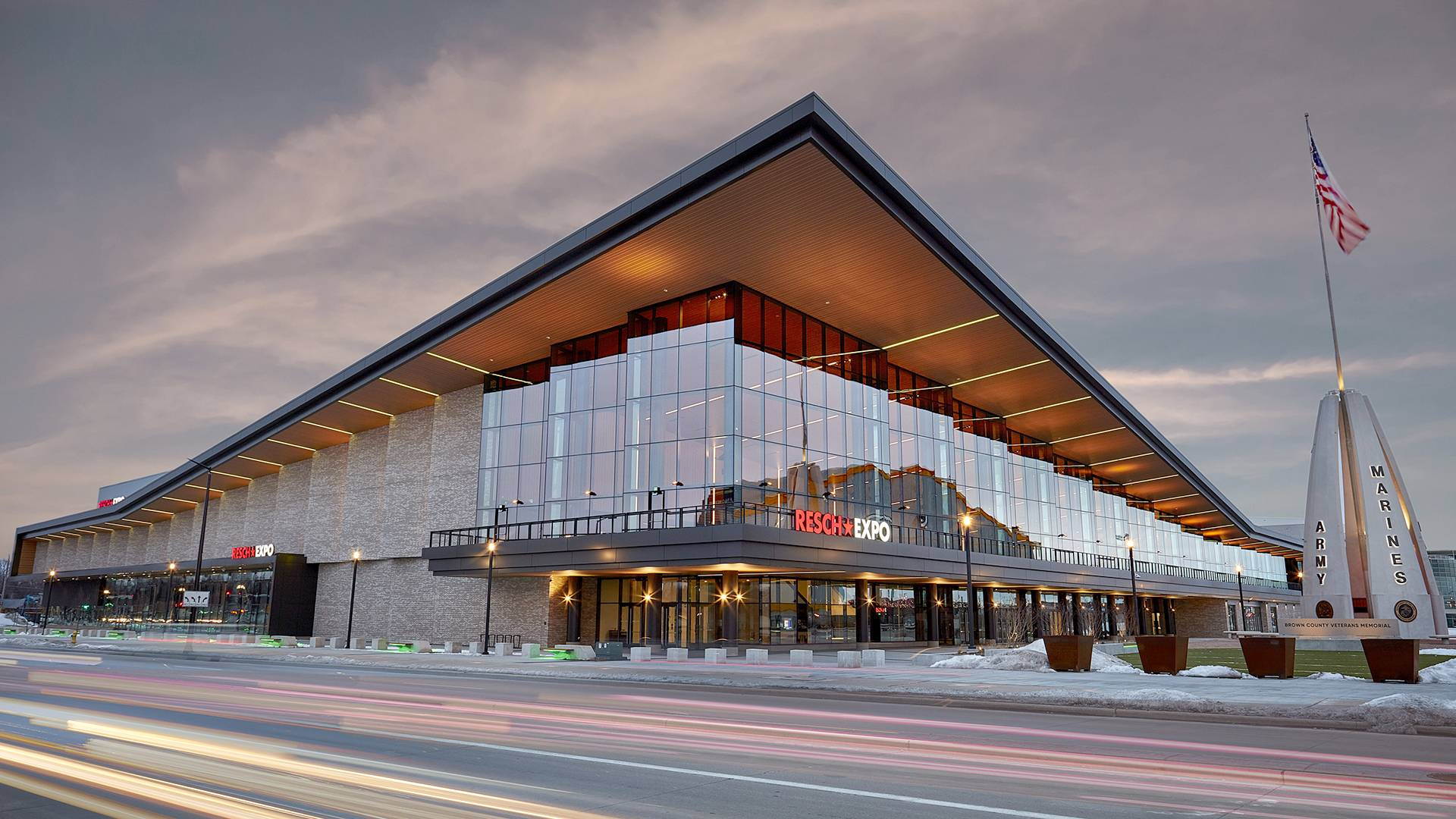 Green Bay's new 125,000 square foot, column-free exposition center is open!