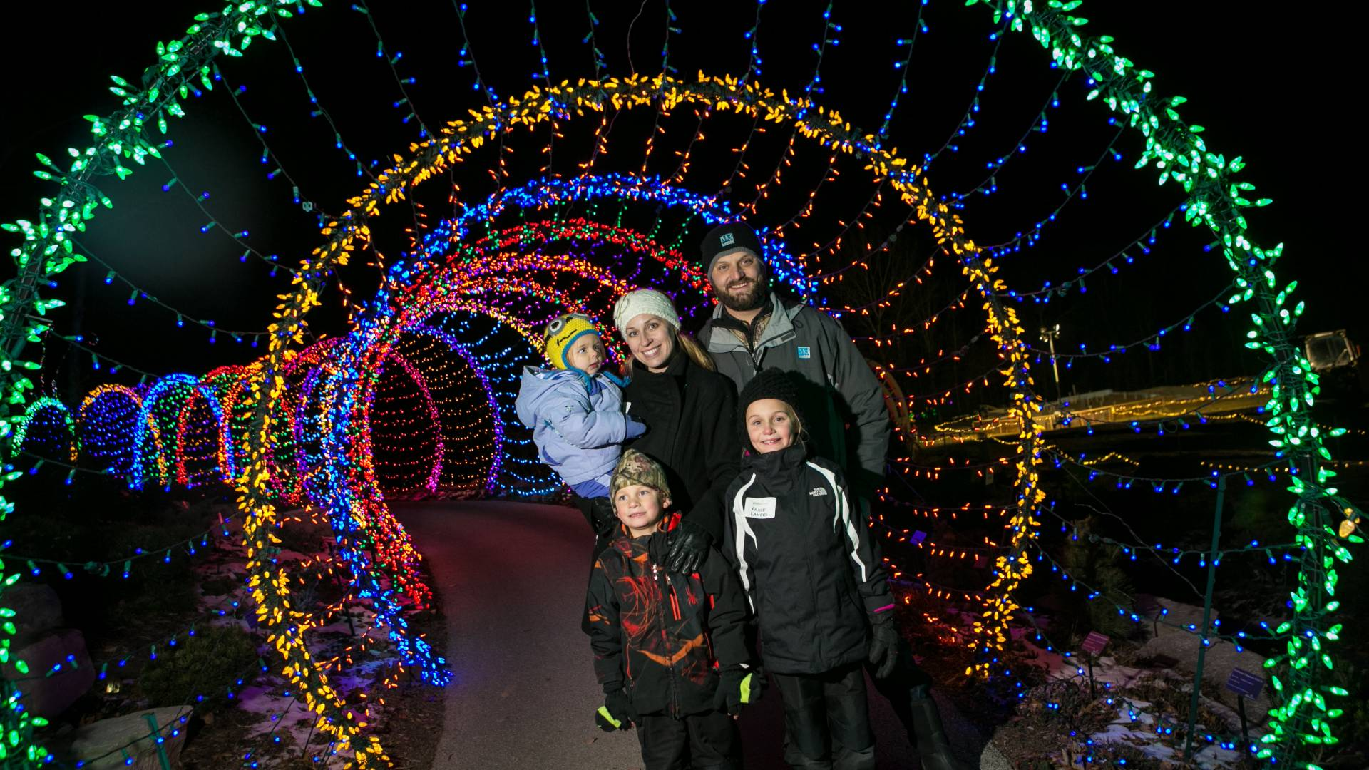 Green Bay Botanical Garden of Lights features over 250,000 lights to brighten the garden.