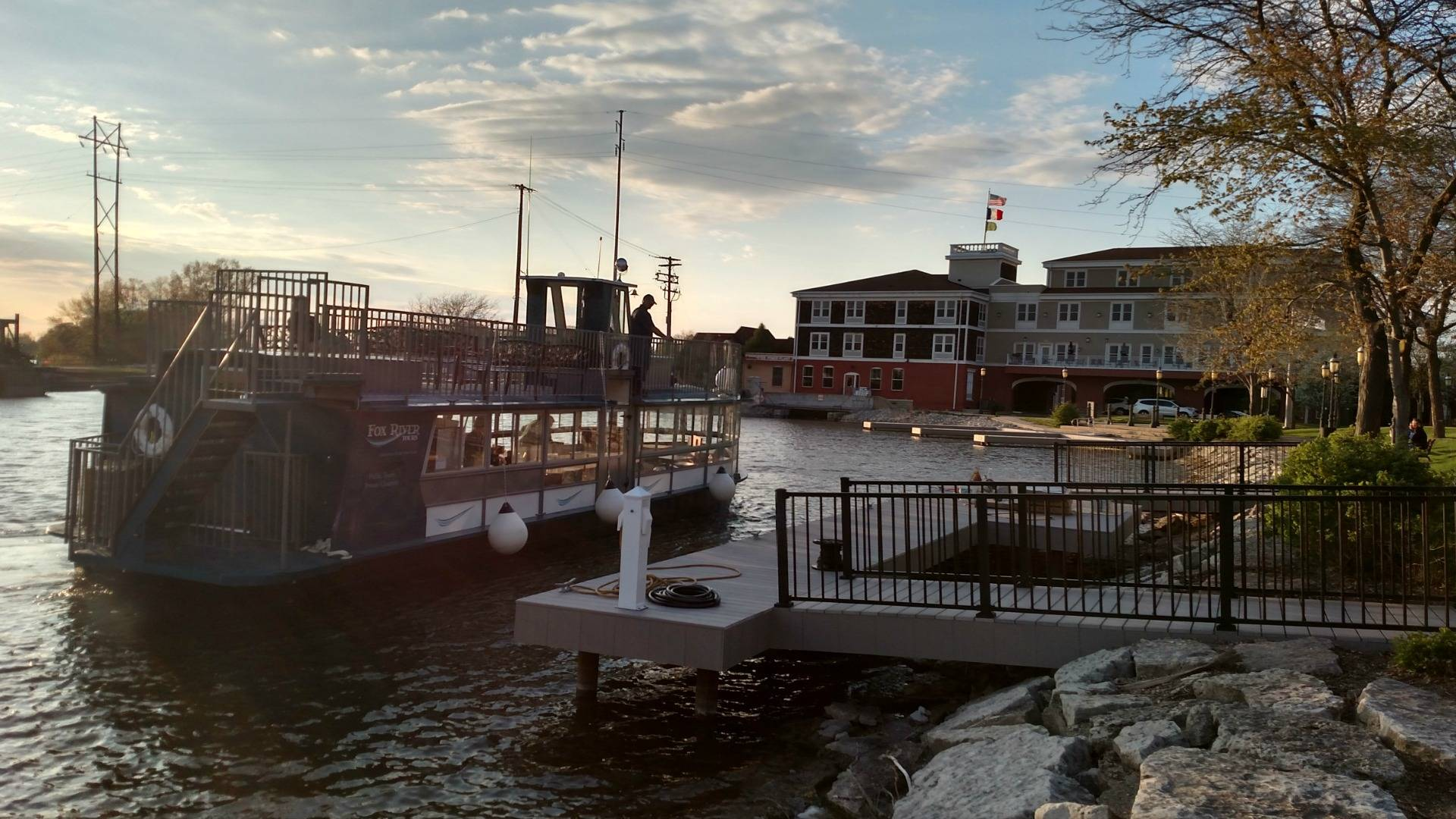 Get out on the beautiful waters of the Fox River aboard River Tyme - docked in De Pere. Book your cruise today!